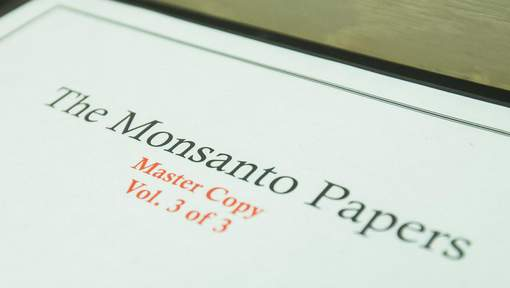 Press conference of plaintiffs of lawsuit against Monsanto