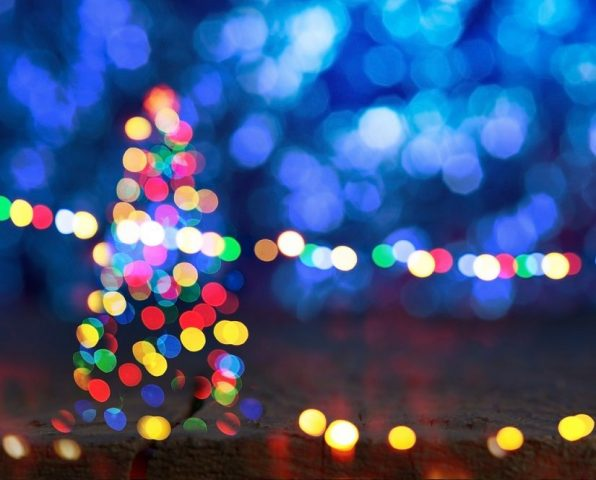 luces, LED, Navidad, sustentable, papeles